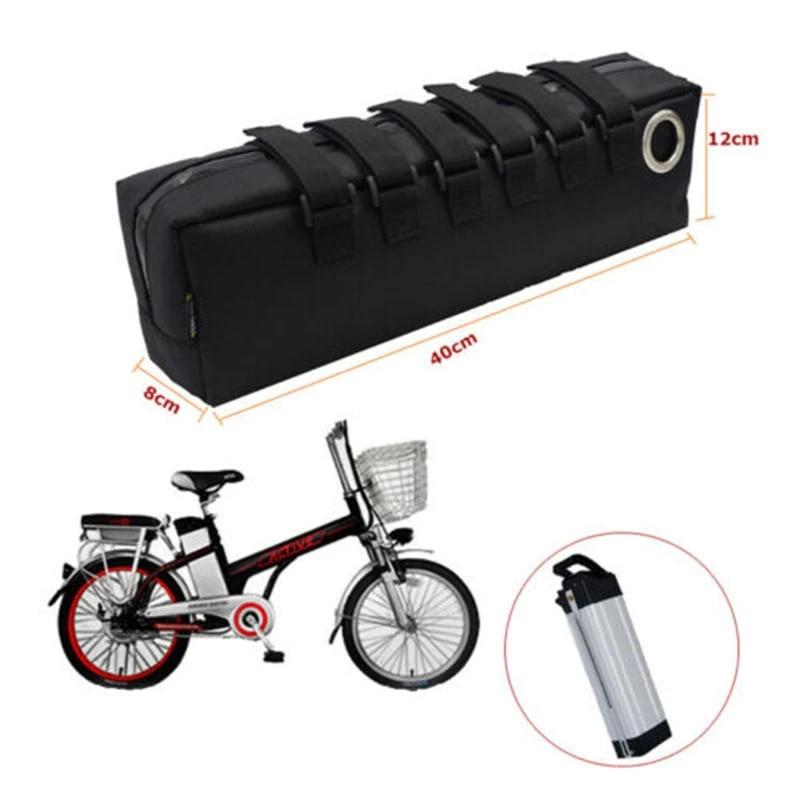 35CM ELECTRIC BIKE BLACK BAG CASE BICYCLE REAR STORAGE BAG  E-BIKE BATTERY PACK