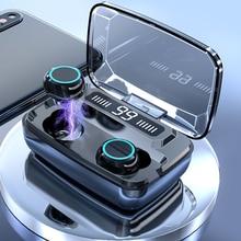 Ban Đầu M11 Tai Nghe Không Dây TWS Bluetooth 5.0 Tai Nghe HiFi IPX7 Chống Nước Tai Nghe Nhét Tai Cảm Ứng Điều Khiển Tai Nghe Cho Game Thể Thao
