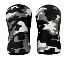 Rodillera de compresión para ciclismo sentadillas, soporte de rodilla de neopreno de 7mm, rodillera de levantamiento de pesas para Crossfit, protectores de rodilla powerlifting
