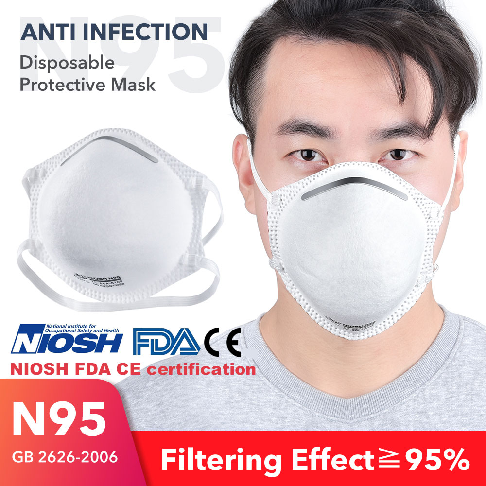 20 PCS Fast Delivery Safety Sealed Pack Hot Sale Mask NIOSH FDA CE Approved Anti Dust Gas Bacteria Proof Mask Protective Mask