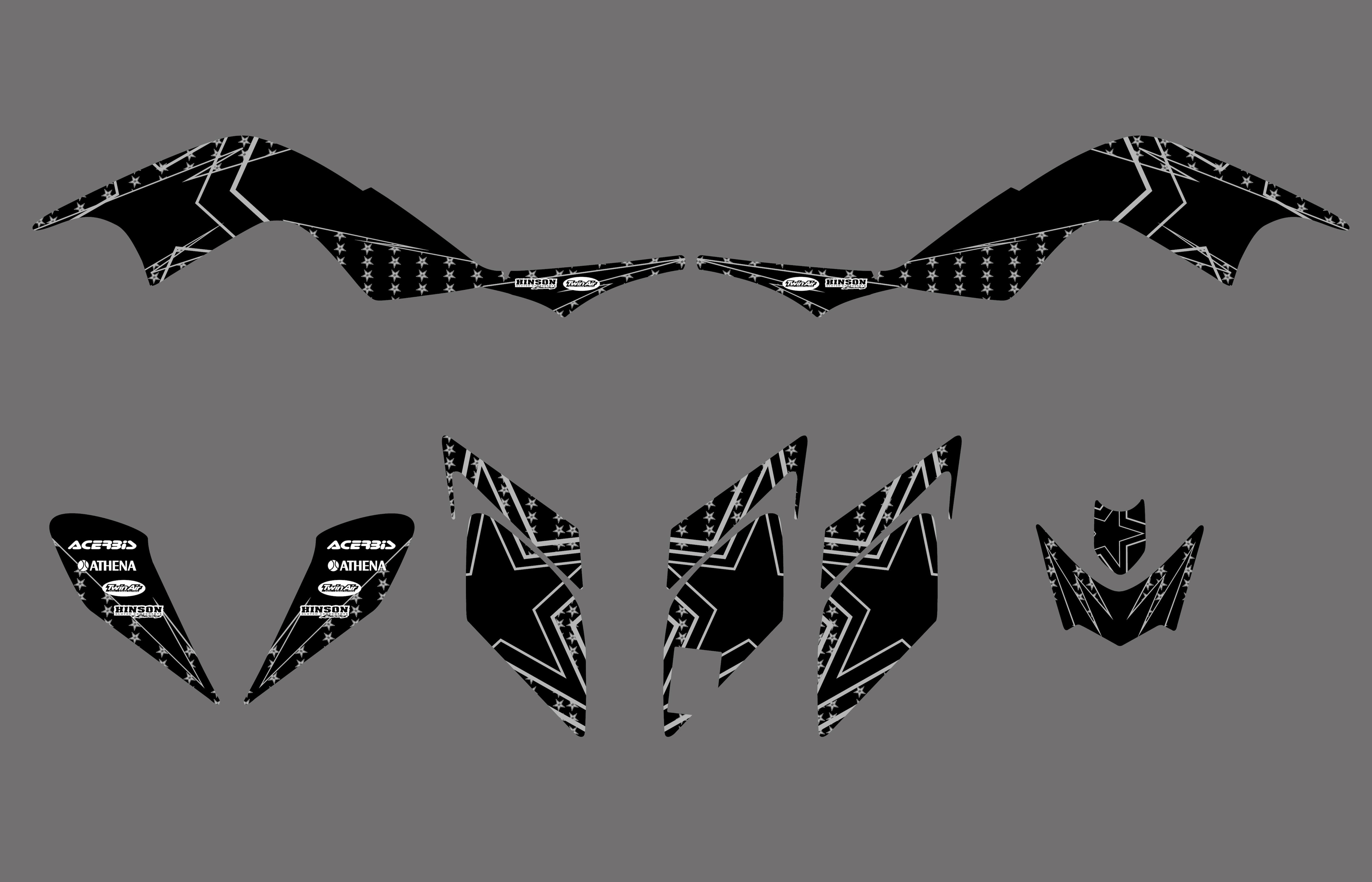 New TEAM DECALS STICKERS Graphics Kits For Yamaha RAPTOR 700 YFM700 ATV 2006 2007 2008 2009 2010 2011 2012  Pegatina