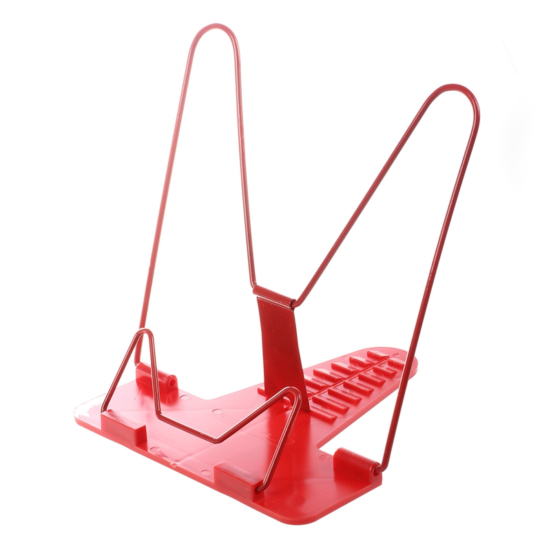 1 Pcs Portable Foldable Adjustable Bookend Stand Reading Book Stand Document Holder Base Reading Book Shelf Bookend Reading (red