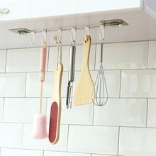 Кухонные гаджеты, шкаф, 6 крючков, бытовая стойка для хранения, кухонная утварь, вешалка для полотенец, шкаф для полотенец, стойка для хранения WF710428