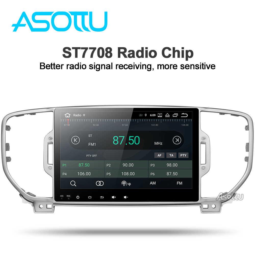 Asottu KI605 IPS android 9.0 PX6 samochodowy odtwarzacz dvd dla KIA sportage 4 QL 2016 2017 2018 nawigacja gps 1 samochodowy odtwarzacz stereo din jednostka główna