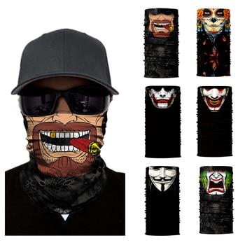 Motorcycle Face Mask Halloween Scarf Mask face shield Head Scarf Neck Warmer Windproof Sun Mask Balaclava motorcycle Biker Masks