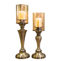 Gold Metal Candle Holders Wedding Decorations Christmas Centerpiece Decoracion Nordica Hogar Rose Gold Candle Holder Gold HH50ZT