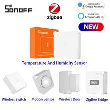 SONOFF SNZB-02 ZigBee датчик температуры и влажности уведомление в реальном времени приложение E-WeLink умный дом работа с SONOFF ZBBridge