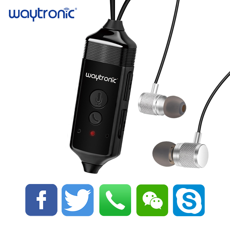 Wireless Bluetooth Recording Headset with Microphone for iPhone Android, Collecting Evidence, Interview, Studio phone call recor image