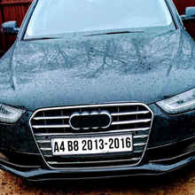 цена на 12pcs Stainless Steel Car Front Grill Grille Decorative Cover Trim Strips For Audi A4 B8 2013-2016 Car Styling Decals