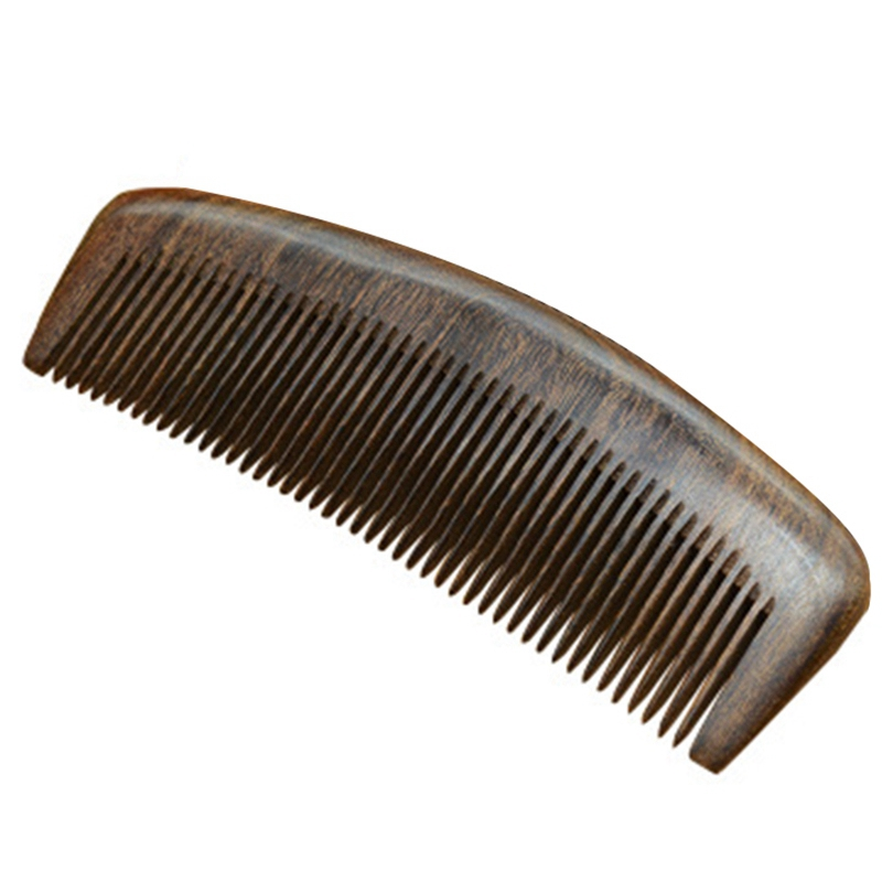 1Pcs Natural Health Care Black Gold Sandalwood Hair Comb Anti-Static Beard Comb Of Hair Brush Hairbrush Men Women