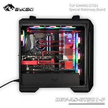 Bykski Waterway Boards For Asus TUF GAMING GT501, For Intel CPU Water Block & Single GPU Building