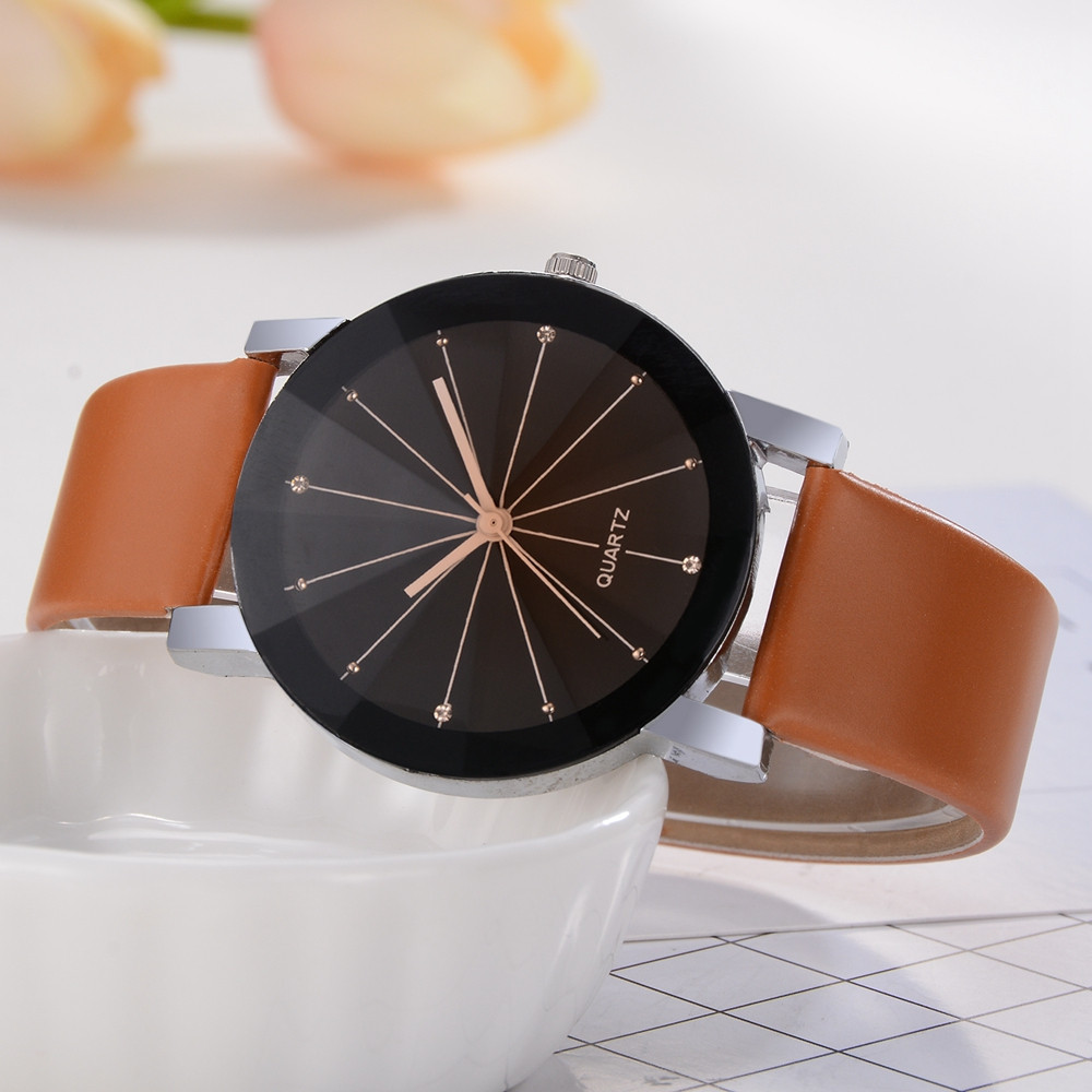 Women's Casual Quartz Leather Band Newv Strap Watch Analog Wrist Watch Simple Women Watches Ladies Casual Leather Quartz Watch