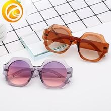 New Fashion Women Sunglasses Brand Designer Large Frame Vintage Sun Glasses Cat Eye Eyewear JIAO SHEN NUO UV400 1915