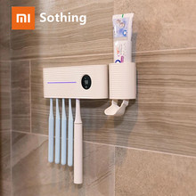 Xiaomi sothing UV Light Toothbrush Sterilizer Holder Inhibit bacterial Tooth Brush Antibacteria Automatic Toothpaste Dispenser