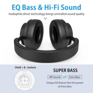 Image 3 - Picun P20 Bluetooth Headphone 5.0 Over Ear Wired Wireless Headphones Foldable Monitor DJ Stereo Headset with Mic Support TF Card