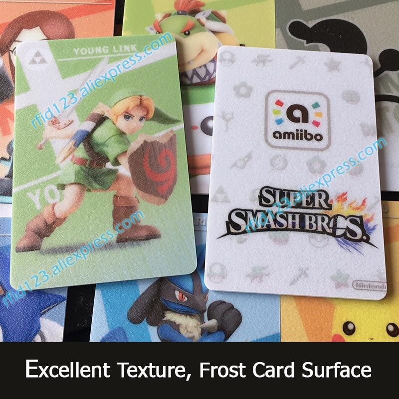 78pcs NFC Amiibo Card Work For Super Smash Bro. Series NFC Printing Card