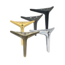 4pcs Height 12/15/19CM Modern Triangle Iron Metal Furniture Sofa Chair Legs Cupboard Table Bed legs with Screws Accessories