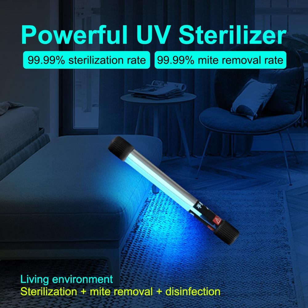 Portable UV-C Ultraviolet Sterilizer Lamp Handheld Sterilizing Rod Household UV Disinfection Stick Sanitizer UV Disinfecto 5/9W