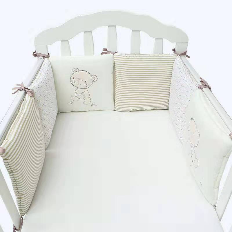 30*30*4cm*6 Baby Bed Protector Baby Bumper Pillow Cushion Crib Bumper Pads For Infant Bebe Net Bumper Infant Safe Fence