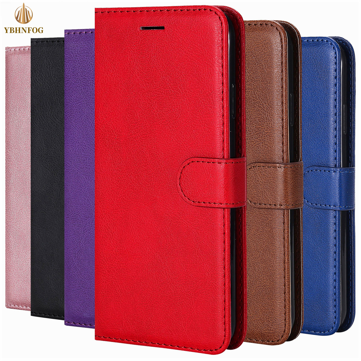 Luxe Eenvoud Leather Wallet Case Voor Iphone 11 Pro X Xs Max Xr 6 6S 7 8 Plus 5 5S Se Houder Kaartsleuven Flip Cover Stand Bag