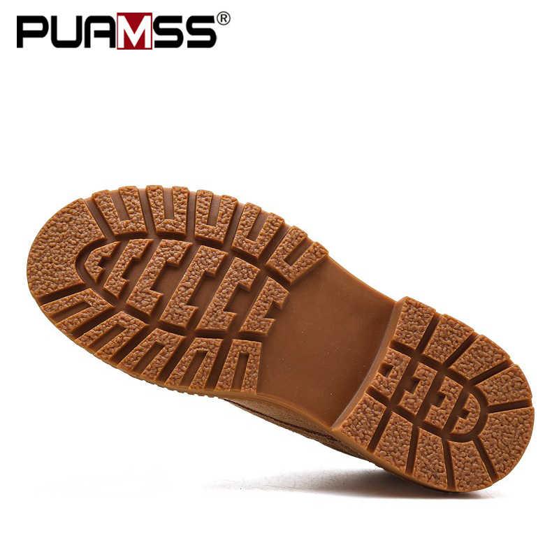 2019 kış ayakkabı erkekler askeri botlar yüksek kaliteli sağlam tuval yarım çizmeler dantel-up erkekler ayakkabı açık iş ayakkabısı