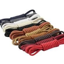 1 пара одноцветное Цвет из вощеного хлопка круглые шнурки модные