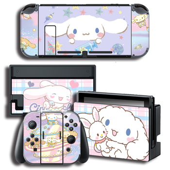 Pegatina de recubrimiento de cubierta de Laurel perro pegatinas w/consola + alegría-con + TV + muelle pieles para Nintendo interruptor pieles paquete