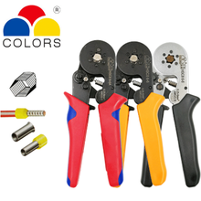 HSC8 6-6 Tubular Terminal Crimper 0.25-6mm 23-10AWG & 10SA 0.25-10mm 23-7AWG Electrical Crimping Pliers Hand Tools Set