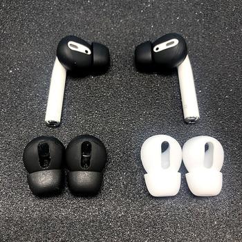 Tampoane pentru urechi pentru Airpods 1/2 căști fără fir bluetooth pentru iPhone căști din silicon capace căști pentru căști căști pentru urechi 2 buc / pereche