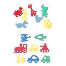 Плавающая игрушка из пены для ванной для детей, мягкая эва поплавок, игрушки для купания, Детские пазлы в форме животных, детские игрушки для ванной