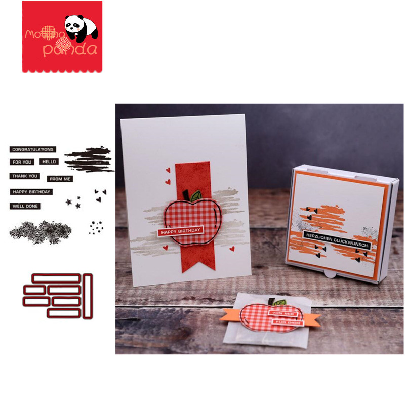 MP080 LABEL Metal Cutting Dies And Stamps Scrapbook Album Knife Mold Stencil Templates Card Craft Making Embossing Craft
