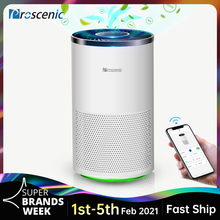 Proscenic A8  Smart Air Purifier for Home with H13 HEPA Filter Cleaner Allergies and Pets Smokers, Mold, Pollen, Dust