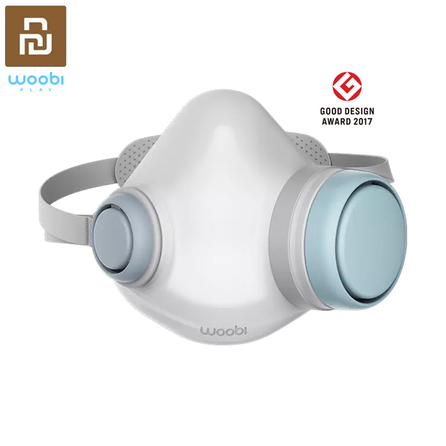 Original Youpin Woobi F95 Face Mask Replaceable Filter Washable Reusable Masks One way Valve Face Respirator for Adult Children
