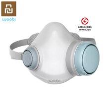 Original youpin woobi f95 máscara facial filtro substituível lavável máscaras reutilizáveis respirador de cara de válvula de sentido único para crianças adultas