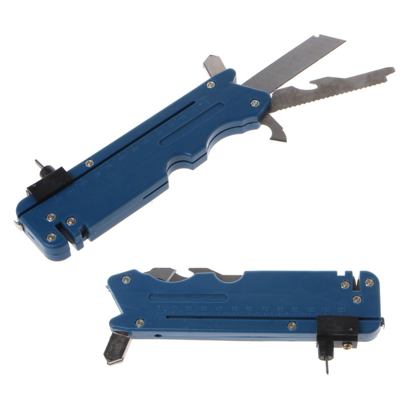 Professiona Upgrade Diamond Tipped Glass Cutter Six Wheel Metal Cutting Kit Hand Tool Multifunction Tile Plastic Cutter