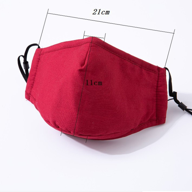 5pcs Cotton Mask Mouth Mask Face Mask Washable Reusable Anti PM2.5 Anti-Dust Masks with 10pcs Activated Carbon Filter Fabric 1