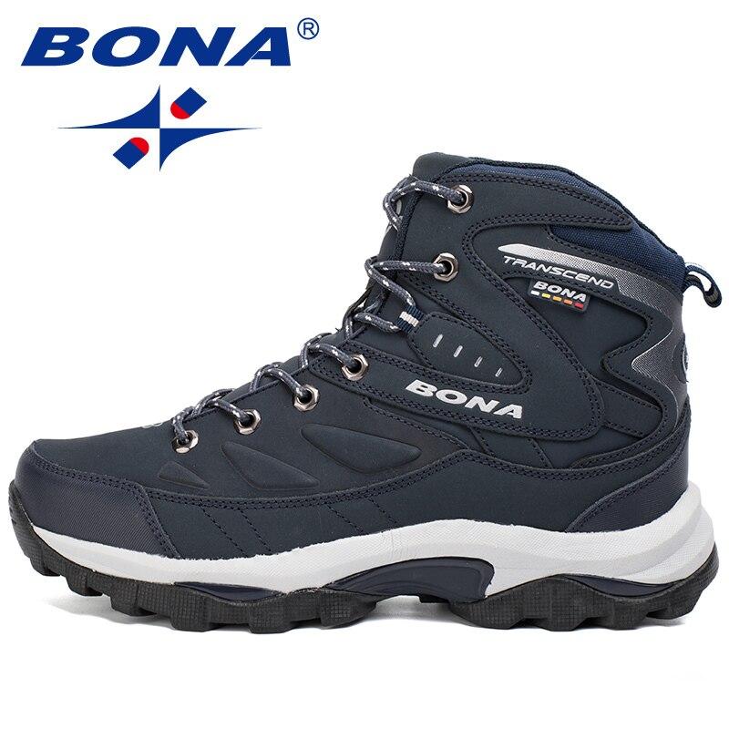 BONA NEUE 2020 Wandern Schuhe Männer Outdoor Camping Winter Stiefel Leder Klettern Sport Turnschuhe Mann Zapatillas Outdoor Hombre