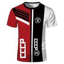 Men's 3D printing digital printing short sleeve T-shirt, comfortable top, Russian style, 2021 summer series, CCCP size xxs-6xl