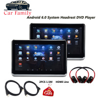 10.2 Inch Android 6.0 Car Headrest DVD Monitor HD 1080P Video IPS Touch Screen WIFI/HDMI/USB/SD/Bluetooth/FM Transmitter