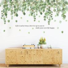 Grande videira verde adesivos de parede para o quarto sala estar sofá tv fundo decoração da parede folhas plantas decalques de parede decoração para casa