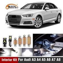 White Canbus Error Free Led Interior Lighting Kit For Audi A3 8L 8V 8P A4 B5 B6 B7 B8 A5 A6 C5 C6 C7 A7 A8 D2 D3Map Light