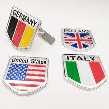 Estados unidos da américa reino unido alemanha itália inglaterra logotipo da bandeira emblema emblema para pontiac dacia bmw jaguar carro capô grill