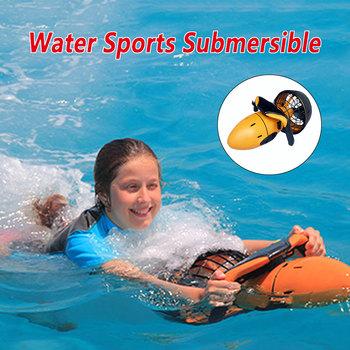 Outdoor Motion basen z wodą skuter wodny 300W podwodna podwójna prędkość woda śmigło podwodne nurkowanie sprzęt skuter Sport wodny tanie i dobre opinie IHOMEINF CN (pochodzenie) 8 lat Motorówka Underwater Scooter Sea Scooter plastic Large swim pool Recreation Pool Underwater