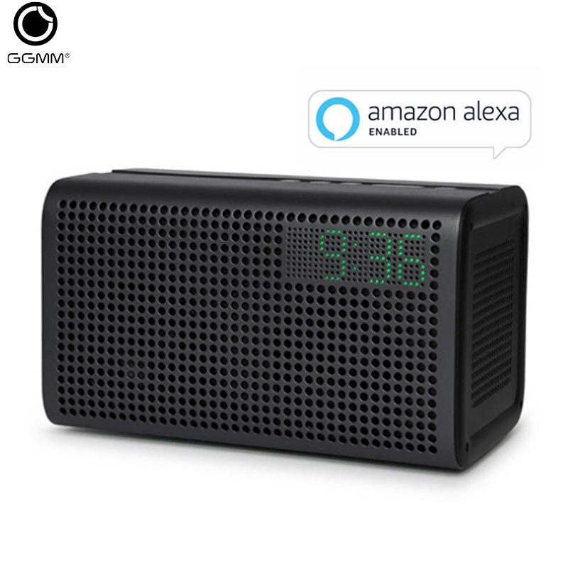 GGMM E3 haut-parleur Bluetooth subwoofer Portable 20W barre de son intérieur haut-parleur soutien Alexa Wifi conception en métal avec réveil
