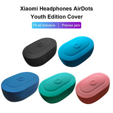 Wireless Earphone Case Silicone Soft Protective Shockproof Bluetooth for Xiaomi Redmi Airdots TWS Headphone Cover box TSLM1(China)