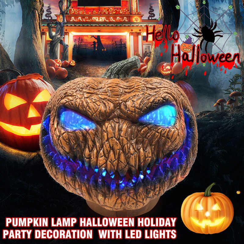 Забавный Хэллоуин СВЕТОДИОДНЫЙ Тыква Лампа Косплей Необычные Джек o игрушечные фонари для вечерней вечеринки играть флэш реквизит фестиваль украшения подарок
