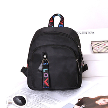 Women Girls Fashion High Quality Leather Black Mini Travel Rucksack Backpack Three-dimensional Type School Zipper Shoulder Bags
