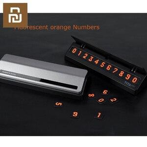 Image 3 - Bcase TITA çevirme tipi araba geçici park kartı telefon numarası kart plaka Mini araba dekorasyon için Mi yaşam