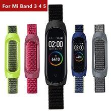 עבור Xiaomi mi band 4 5 6 ניילון רצועת ספורט לולאה רצועת השעון עבור Mi band 4 רצועת חכם אבזר צמיד עבור Mi band 4 5 רצועה