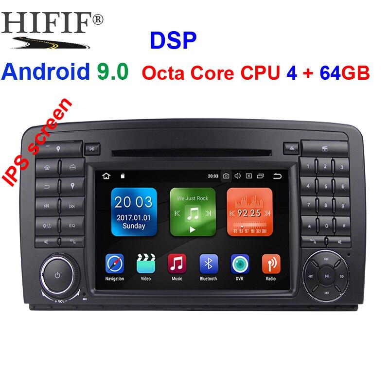 IPS Octa Core 2 din Android 9.0 lecteur DVD de voiture GPS Radio stéréo pour Mercedes Benz classe R W251 R280 R300 R320 R350 avec wifi